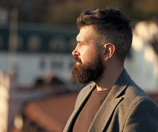 man with mid length beard