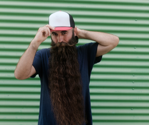 man with a long beard