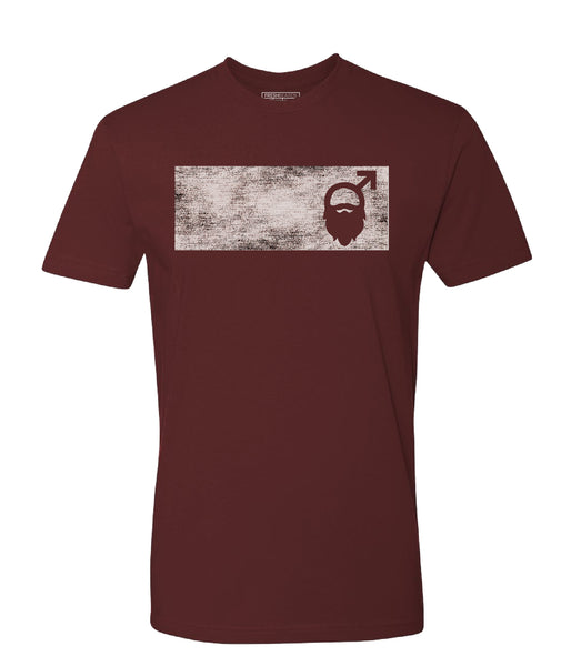 Fresh Beards Distressed Logo T-shirt (Maroon)