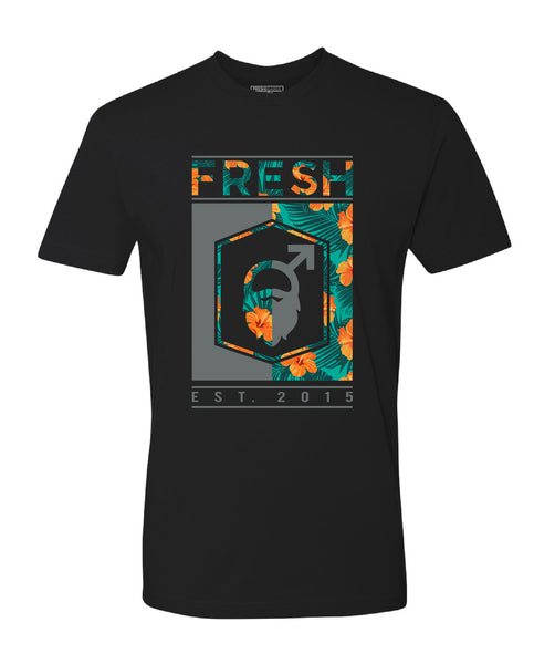 Fresh Beards Beach Blend Inspired Logo T-shirt (Black)