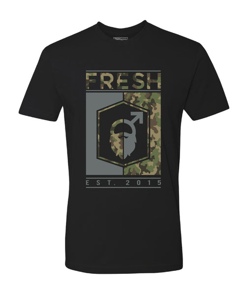 Fresh Beards Recon Inspired Logo T-shirt (Black)