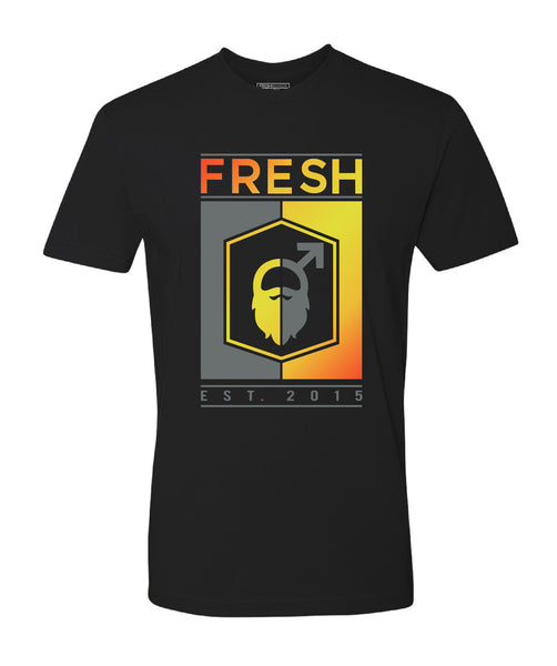 Fresh Beards Voodoo Inspired Logo T-shirt (Black)
