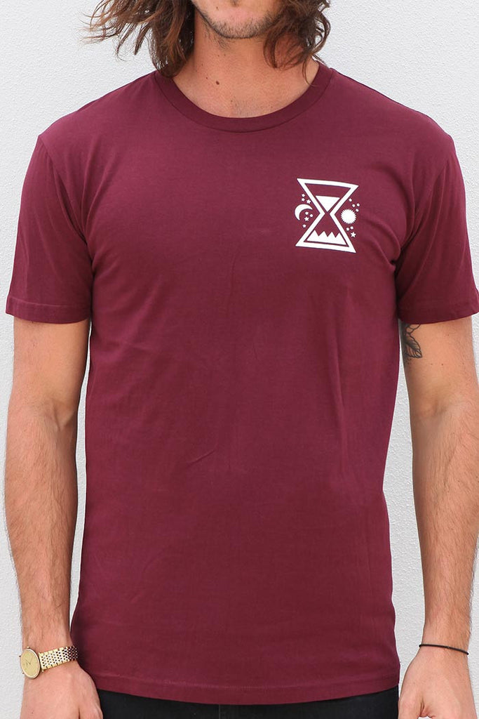 Time & Tide Tee - Burgundy