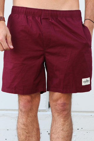 Beach Trunks - Burgundy
