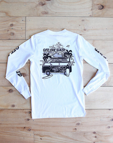 Off The Grid Longsleeve - White