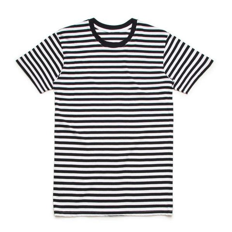 Ruin Stripe Tee - Black / White