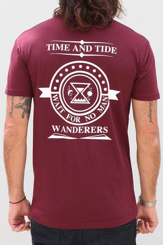 Time and Tide Tee - Burgundy
