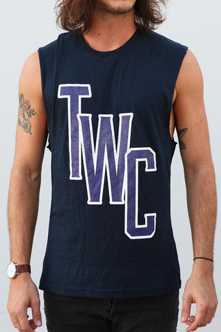 Monogram Muscle Tee - Navy