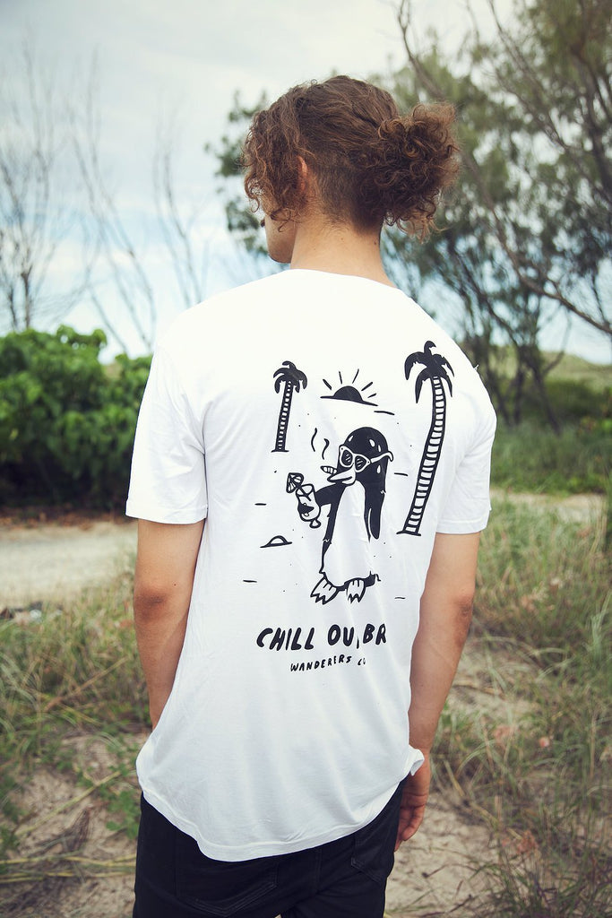 Chill Out Penguin Tee - White