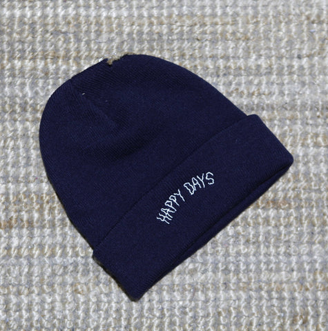 Happy Days - Navy Beanie
