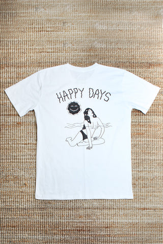 Happy Days Tee - White
