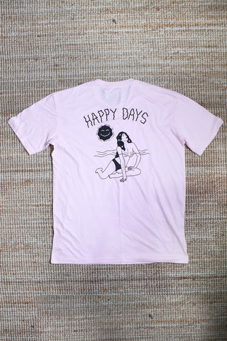 Happy Days Tee - Pink