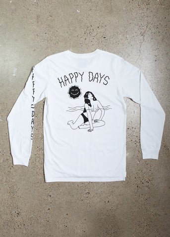 Happy Days Longsleeve - White