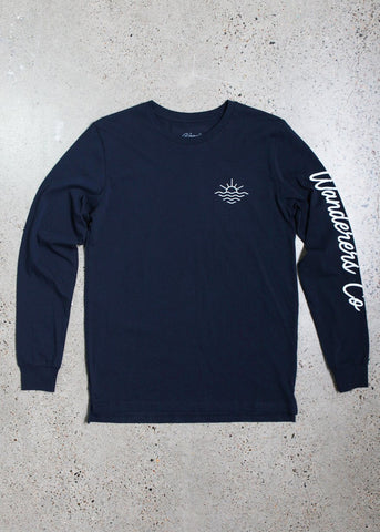 Surf Club Longsleeve Tee - Navy