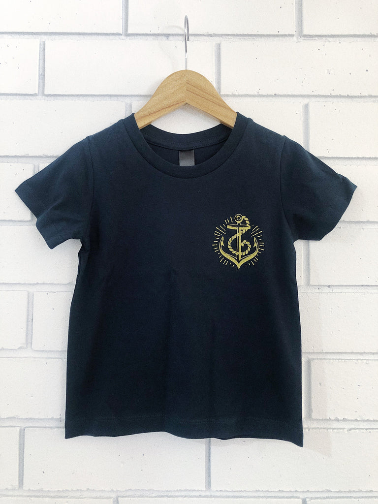 Anchors Kids Tee - Navy
