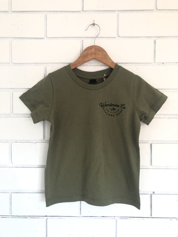 Explore More Kids Tee - Army Green