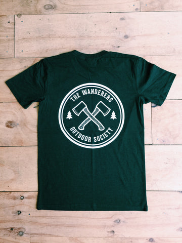 Outdoor Society Tee - Forest Green