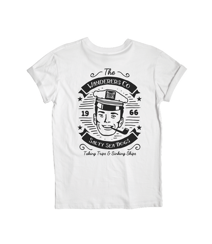 Salty Sea Dogs Tee - White