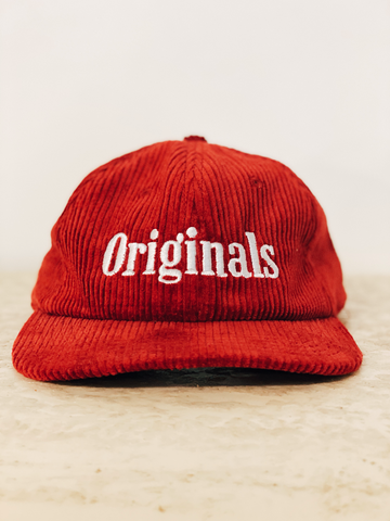 Originals Cord Cap - Red
