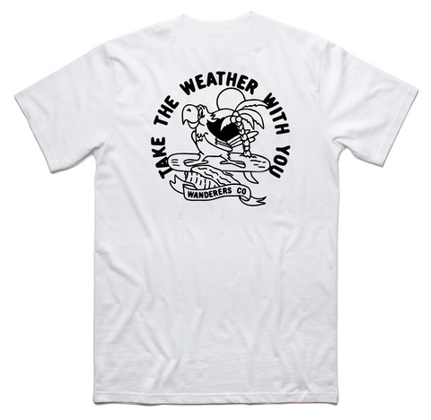 Take the Weather - White Tee