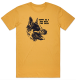 Pre-Order - Happy as T-Shirt - Mustard