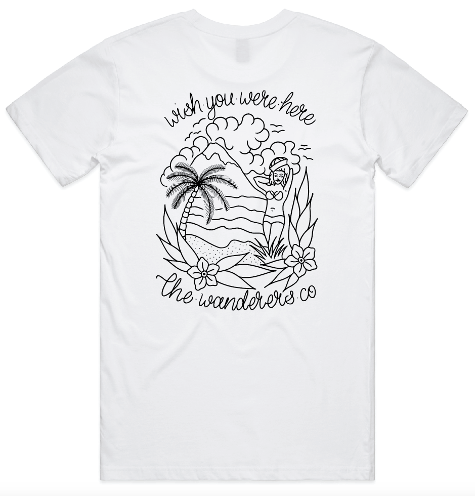 Wish You Were Here Tee - White