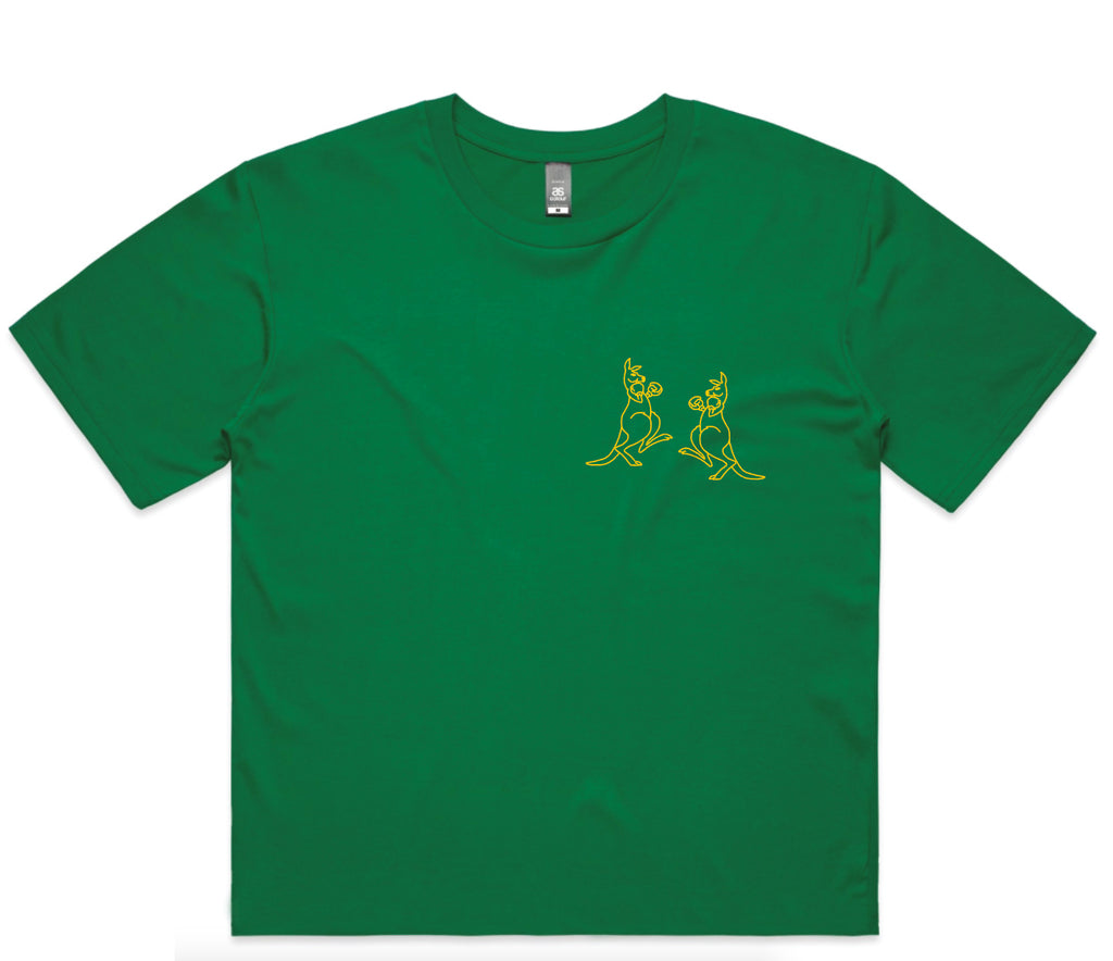 Hoo Roo Crop - Green & Gold