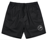 Outline Cotton Shorts - Black