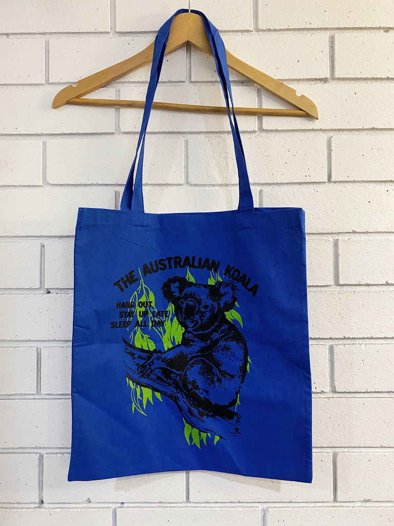 Koala Blue Tote Bag