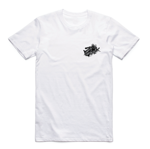 Waves not Graves V3 White - Tee