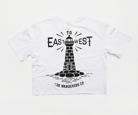 East to West Crop - White