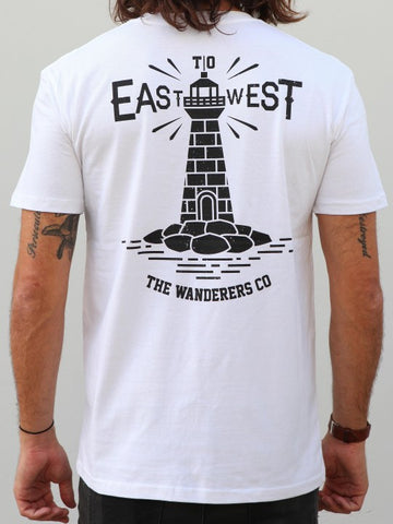 East to West Tee - White
