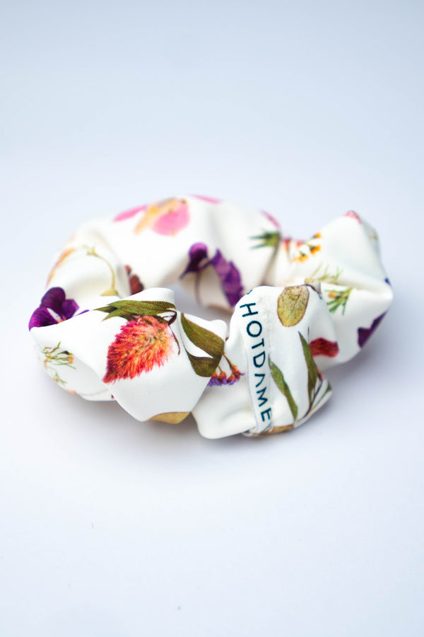 Gypsy Floral Scrunchie - Hot Dame