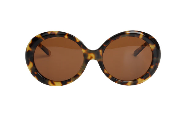MEGUMI•O Polarized No Cheek Touch<br /> Jackie O Sunglasses (Blonde Tortoise)