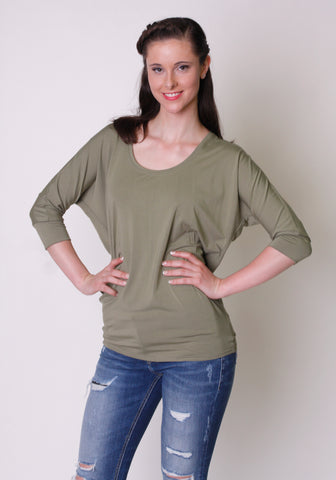 Bamboo 3/4 Sleeve Courtnie Top