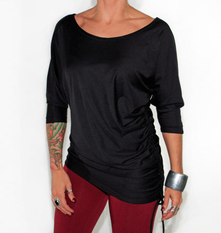 Bamboo 3/4 Sleeve Slouch Top