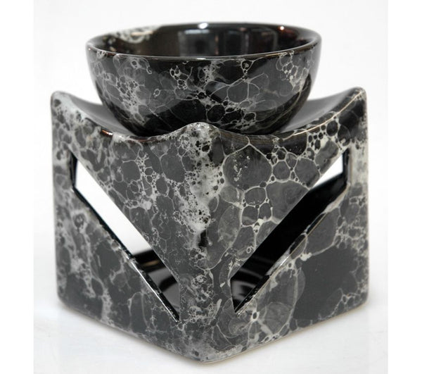 oil burner marble pattern escential delights