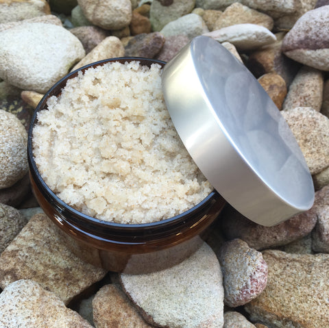 scrub foot sea salt oils escential delights