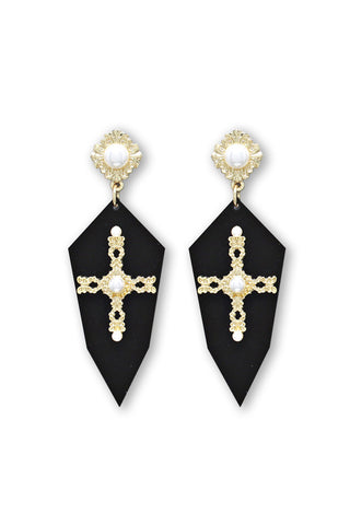 Blessed Me Earrings | Black - Veronique Boutique