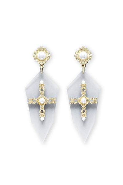 Blessed Me Earrings | Clear - Veronique Boutique