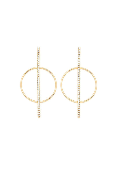 Strike Through Earrings - Veronique Boutique