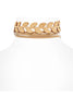 You Stud Laurel Choker | Neutral - Veronique Boutique