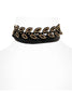 You Stud Laurel Choker | Black - Veronique Boutique