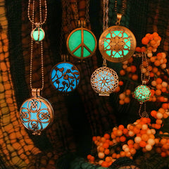 Circle shaped necklaces collection cute glow in the dark jewelry