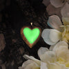 Big Heart - Green - www.CuteGlow.com Glow in the dark jewelry