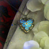 Silver Heart - Turquoise - www.CuteGlow.com Glow in the dark jewelry