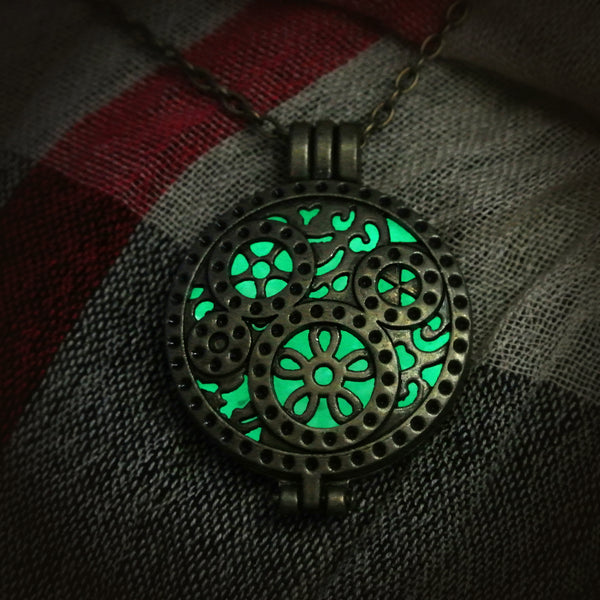 Time Machine - Green - www.CuteGlow.com Glow in the dark jewelry