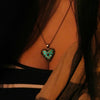 Treasured Heart - Turquoise - www.CuteGlow.com Glow in the dark jewelry