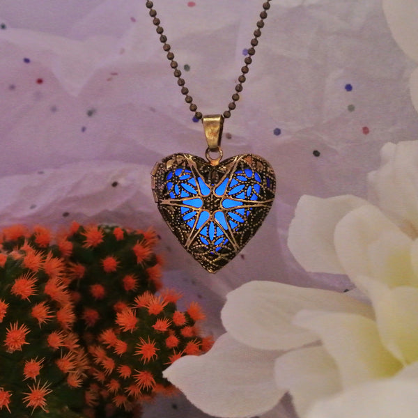 Gold Heart - Blue