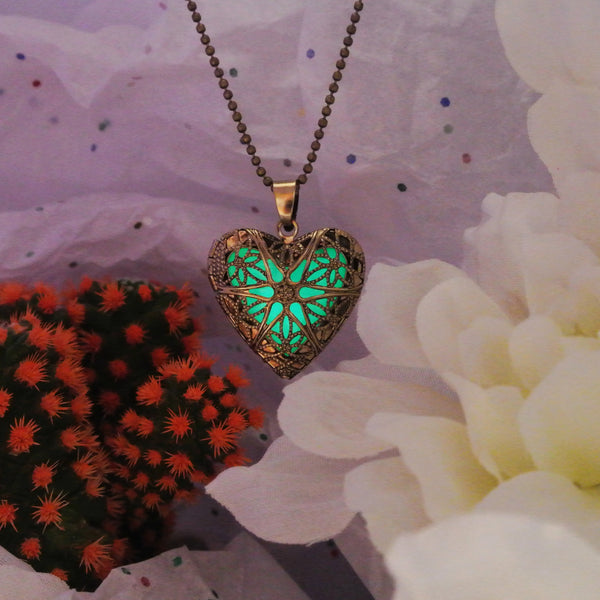 Gold Heart - Green